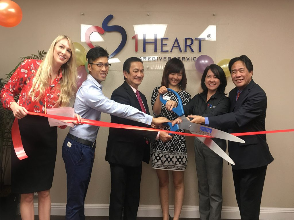 1Heart Caregiver Services Irvine Ribbon Cutting